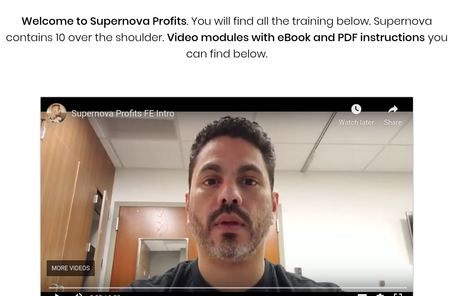 Supernova Profits Review