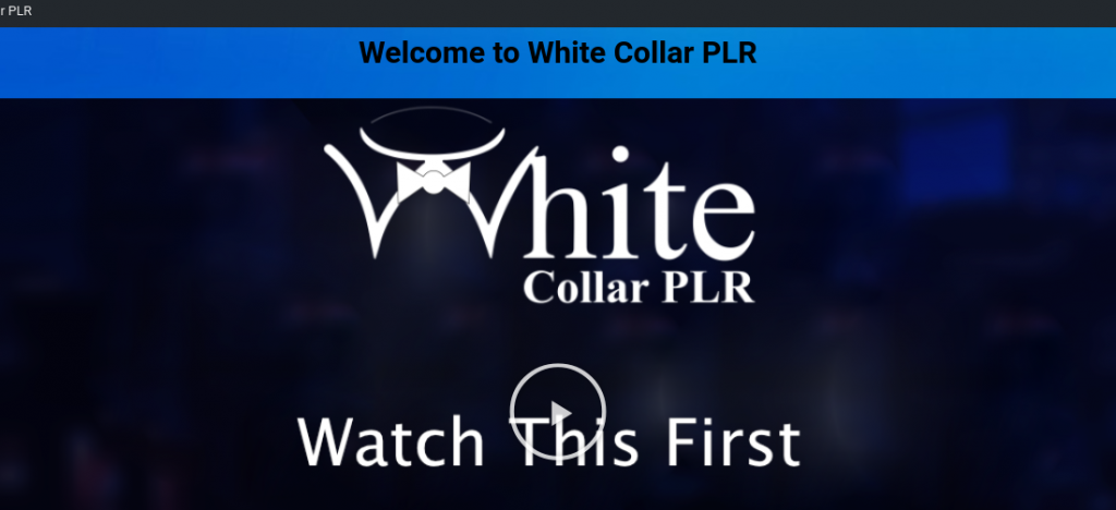 White Collar PLR Review
