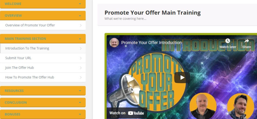 Promote Your Offer Review